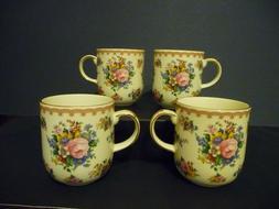 "Royal Albert ""LADY CARLYLE"" set of 4 bone china coffee/tea m"