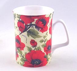 Lancaster Poppy Chintz - Fine English Bone China Mug - Engla
