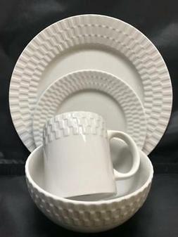 Pfaltzgraff Laurel White Porcelain 16 Piece  Dinnerware Serv