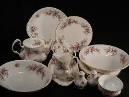 Royal Albert Lavender Rose Dinnerware Plates/Teapot/Serving
