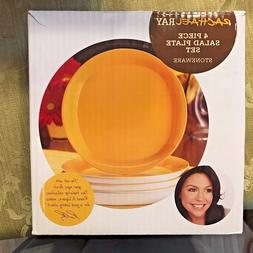 Rachael Ray 'Round and Square' 4-piece Lemon Zest Salad Plat