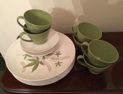 LENOTEX Set/6 Dinnerware Set, Plates, Cups, Saucers, Great S