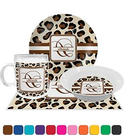 Leopard Print Dinner Set - 4 Pc