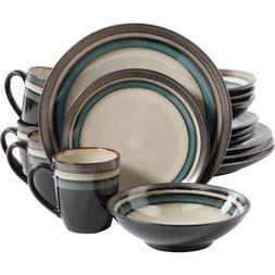 Lewisville 16 Piece Dinnerware Set, Teal