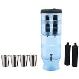 Berkey Light Water Filter System  includes 2 Black Purifier