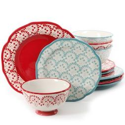 The Pioneer Woman Betsy Mix and Match 12-Piece Dinnerware Se