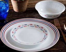 Corelle Livingware 16 Piece Harbor Dinnerware Set Service fo