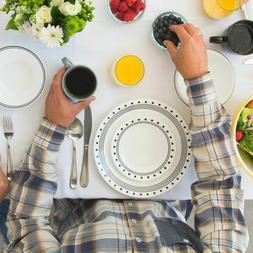 Corelle Livingware City Block Dinnerware Set, 16 Piece - Fre