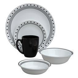 Corelle Livingware City Block 30-Piece Dinnerware Set, Servi