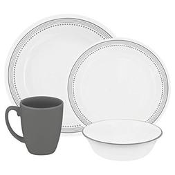 Corelle Livingware 32-Piece Dinnerware Set, Mystic Gray, Ser