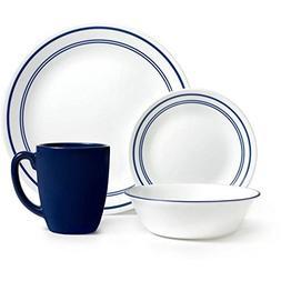 Corelle Livingware 16-Piece Dinnerware Set, Classic Cafe Blu