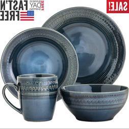 Livingware Dinnerware Set 16Pcs Kingsland - Blue Dish Servic