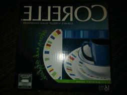 CORELLE 1092905 Livingware 16-Piece Dinnerware Set, Memphis,
