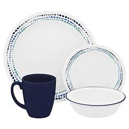 Corelle Livingware 32-Piece Dinnerware Set, Ocean Blues, Ser