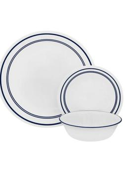 """Corelle 18 Piece """"Classic Cafe Blue"""" Livingware Dinnerware S"""