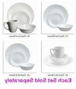 Corelle Livingware Dinnerware Set Basic Service 4 or 8 Break