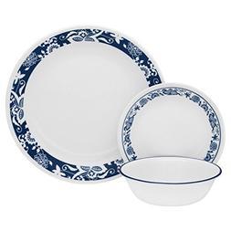 Corelle Livingware 32-Piece Dinnerware Set, True Blue, Servi