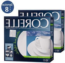 Corelle Livingware 32-Piece Dinnerware Set, Winter Frost Whi