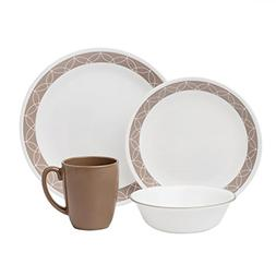 Corelle Livingware 32-Piece Dinnerware Set, Sand Sketch, Ser