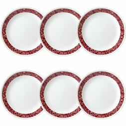 "Corelle Livingware 8.5"" Lunch Plate, Bandhani, Set of 6"