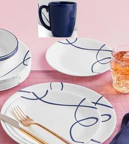 Corelle Livingware Mosaic Red 16-Piece  Dinnerware Set Servi