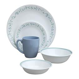 Corelle Livingware square pure white 30-Piece Dinnerware Set