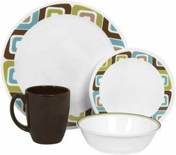 Corelle Livingware Squared 16-Piece Dinnerware Set, NEW
