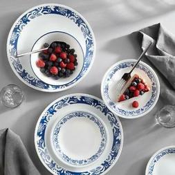 livingware true blue 16 piece dinnerware set