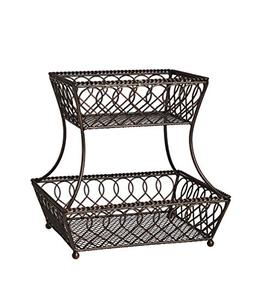 Gourmet Basics by Mikasa 5201553 Loop and Lattice 2-Tier Met