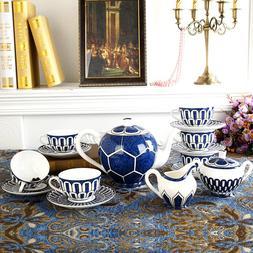 Luxury Bone China Tea <font><b>Set</b></font> Blue Coffee Cu