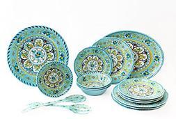 Le Cadeaux Luxury 16 Piece Melamine Dinnerware Set, Service
