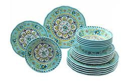 Le Cadeaux 18 Piece Luxury Melamine Dinnerware Set, Service