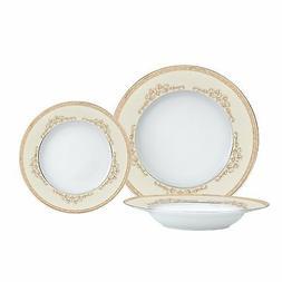 Brilliant - Majesty Gold 18 Piece Dinnerware Set, Service fo
