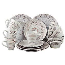 Elama Malibu Sands 16-Piece Dinnerware Set in Shell