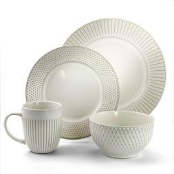 Elama Market Finds 16 Piece Round Stoneware Dinnerware Set i