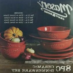 Mason Craft & More – 8-Piece Ceramic Dinnerware Set for 2
