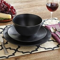 Better Homes and Gardens Matte Swirl 12-Piece Dinnerware Set