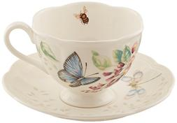 Butterfly Meadow 8 oz. Butterfly Cup and Saucer