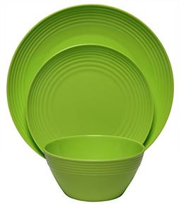 Melange 12-Piece  Melamine Dinnerware Set  | Shatter-Proof a