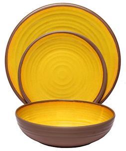 Melange 100% Melamine Clay Collection Dinnerware Set, Servin