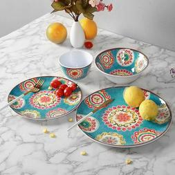 Melamine Dinnerware Set for 4-12 Piece Dinner Dishes Set for