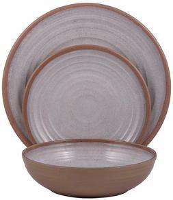 Melange 18-Piece Melamine Dinnerware Set  | Shatter-Proof an