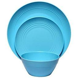 Melange 36-Piece  Melamine Dinnerware Set    Shatter-Proof a