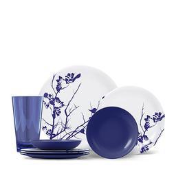 ThermoServ 16 Piece Melamine Dinnerware Set - Dogwood Floral
