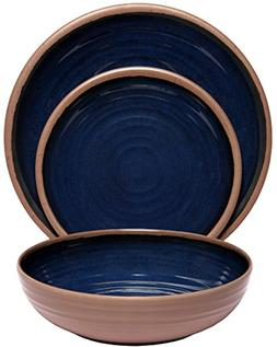 Melange 36-Piece 100% Melamine Dinnerware Set  | Shatter-Pro