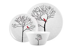Melange 54-Piece Melamine Dinnerware Set  | Shatter-Proof an