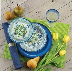 Melamine Dinnerware Sets 12 Piece  - Suitable Indoors And Ou
