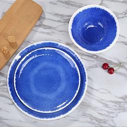 Melamine 18Pcs Dinnerware Set - Hware Dinner Plates Set for