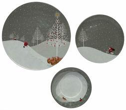 Melange 18-Piece Melamine Dinnerware Set  Shatter-Proof