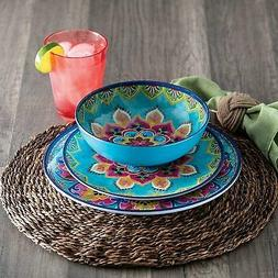 Member's Mark 18-Piece Melamine Dinnerware Set Global Mosaic